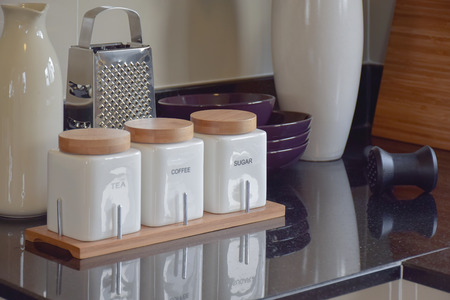 pantry: modern pantry with white utensil in kitchen