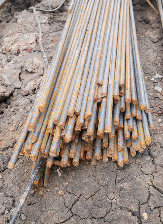reinforce: Steel rods or bars used to reinforce concrete in construction