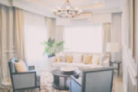classic living room: Defocus luxury living room in modern classic style Stock Photo