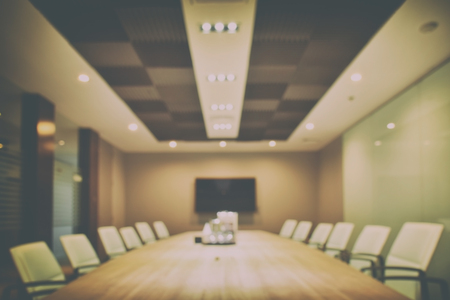 concision: Defocus background empty modern meeting room interior