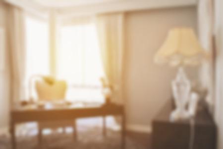 modern living: blur image of modern living room interior Stock Photo