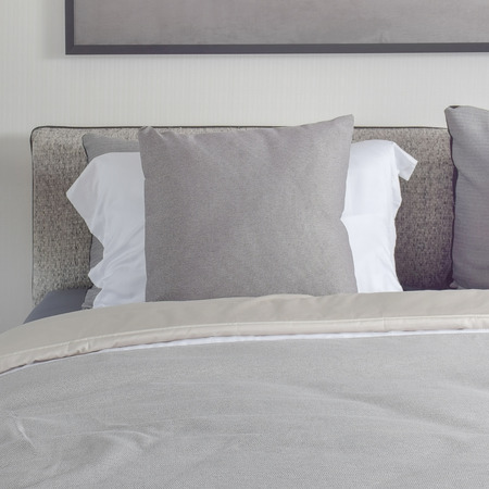 comfy: Dark gray pillow with comfy bed and black shade reading lamp