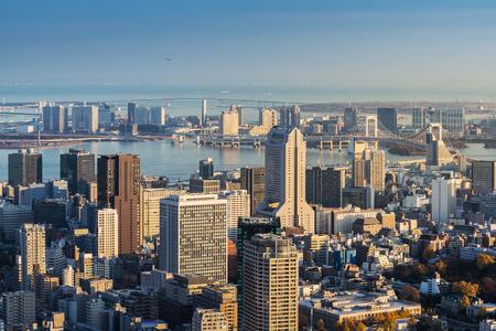 Skyline of Tokyo Cityscape at Sunset, Japan Stock Photo