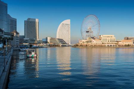 minato: Skyline of Yokohama Cityscape, Japan at Minato Mirai 21 Area Stock Photo