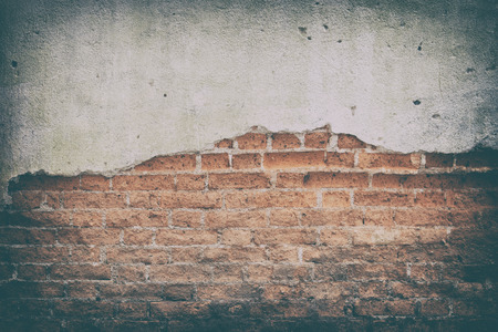 fissure: Old brick wall texture background