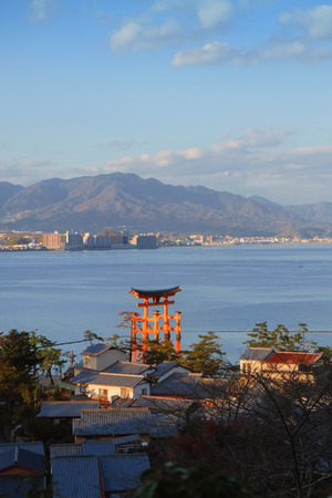 Miyajima, The famous Floating Torii gate, Japan Stock Photo