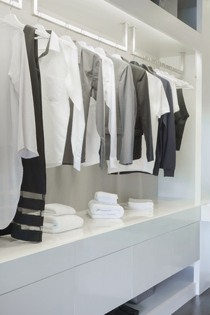hangers: Modern style mens wardrobe at home