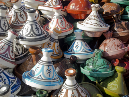 Moroccan pottery tagine Stock Photo