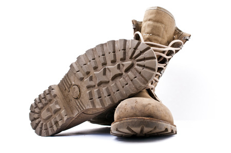 army boots: Army Boots on White Background