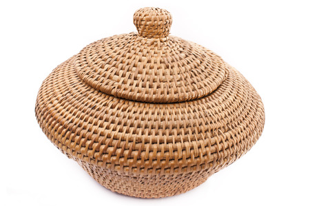 Rattan Basket with Lid photo