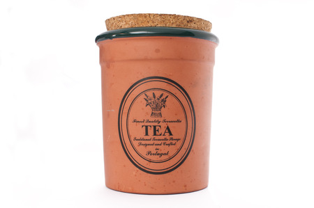 dry provisions: Tea Container with cork lid