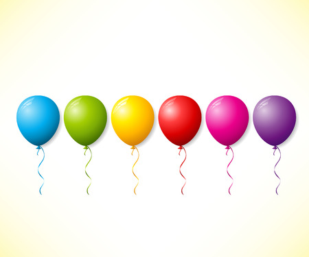 birthday balloons: Collection of color balloons