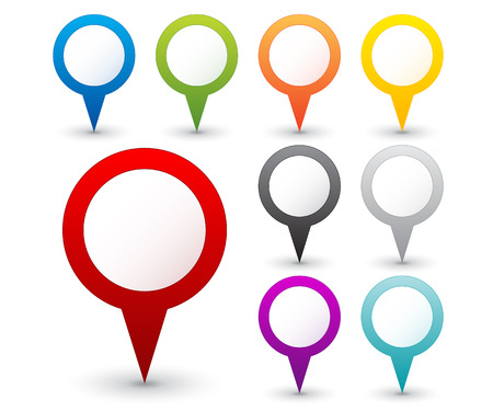 Set of round map pointers Vector