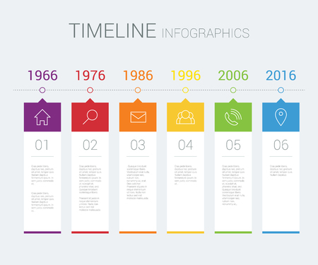 history: timeline infographic