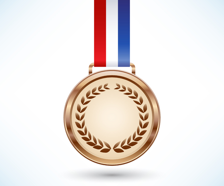 bronze medal: Bronze medal with tricolor ribbon