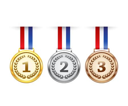Hängende Medaillen vergeben festgelegt Standard-Bild - 57936859