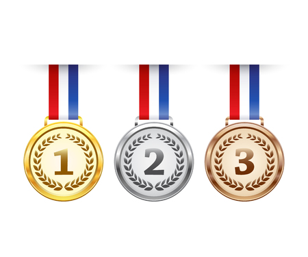 Hanging medaglie di aggiudicazione fissati Archivio Fotografico - 57936859