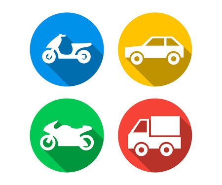 Flat icon set of transport vehicles Фото со стока - 60614497