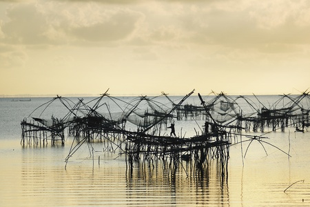 Fishing village at Tropical country, Thailand photo