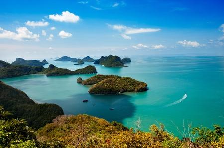 ang thong: View point of Ang Thong Islands national park ,Thailand Stock Photo