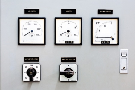 Dial control The production of electricity. Stock Photo - 9017066