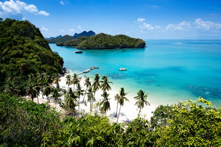 View point of Ang Thong Island national park ,Thailand