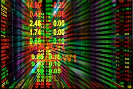 stock ticker board:  perspective stock exchange board