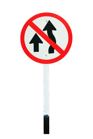 passing: No passing traffic sign isolated