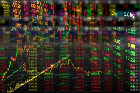 stock exchange graph background photo