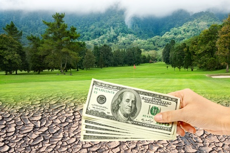 dryness: Golf course and dry land