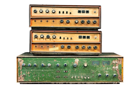 old electronic audio control knob