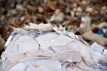 paper waste for recycle photo