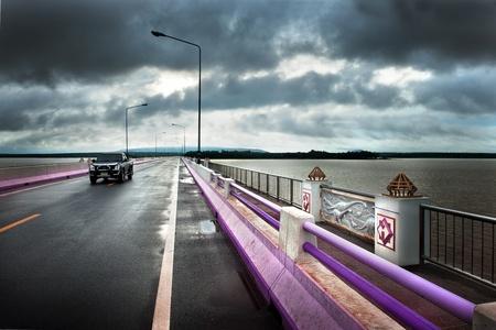 long lake: Long road through big lake