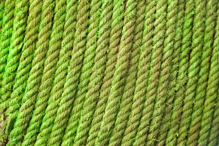 fiber cable: Grote rol van groene glasvezelkabel touw