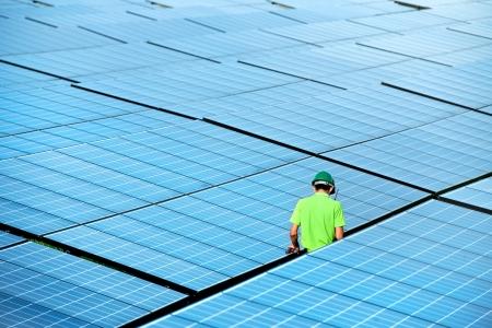Solarkraftwerk Draufsicht Standard-Bild