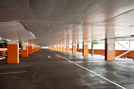 industrial park: empty car park