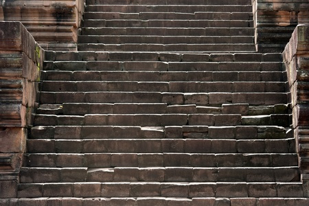 ancient stone stairs to castle