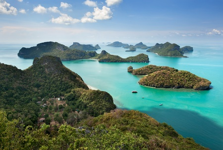 thailand view: View point of Ang Thong Islands national park ,Thailand Stock Photo
