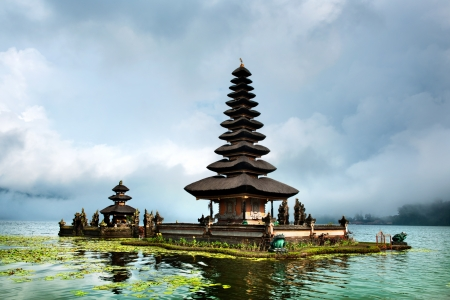 Pura Ulun Danu Bratan Temple, Bali, Indonesia Stock Photo