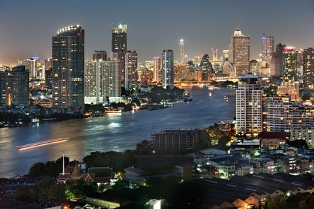 Bangkok city at twilight photo