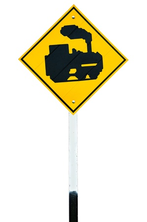 rail cross: Traffic train sign  isolated on white background