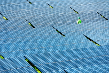 Solar power station top view Stock Photo - 11957131