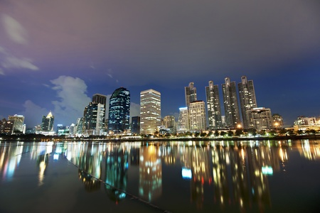 Bangkok city at night ,Thailand photo