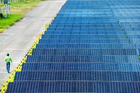 sonnenenergie: Solarkraftwerk Draufsicht Lizenzfreie Bilder