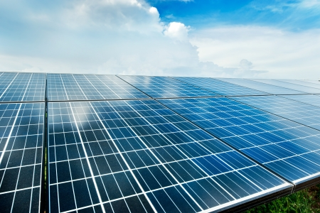 photovoltaik: Solarkraftwerk Draufsicht Lizenzfreie Bilder