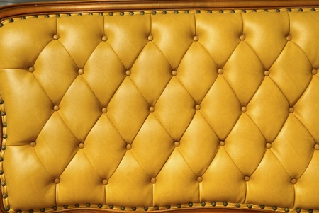 background image of plush yellow leather  Stock Photo - 12783041