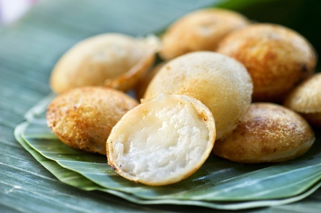 Thai coconut pan cake photo
