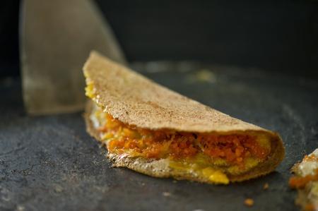 Old thai style of crispy pancake photo