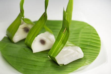 Thai sweet dessert made from coconut cream photo