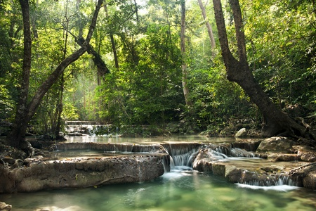 waterfall in Erawan national park , Kanchanaburi , thailand photo